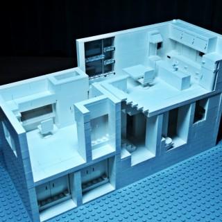レゴで建築 スキップフロアの家